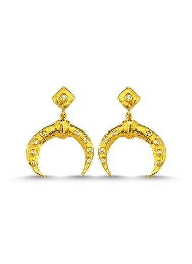 Reian Jewelry Crescent Küpe Altın